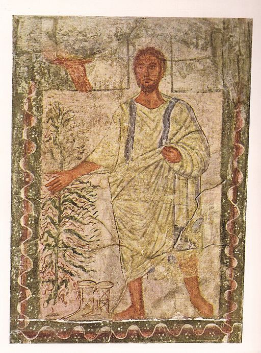 Abraham and the Burning Bush<br>Dura Europos Synagogue, destroyed in 256 CE, in present day Syria
