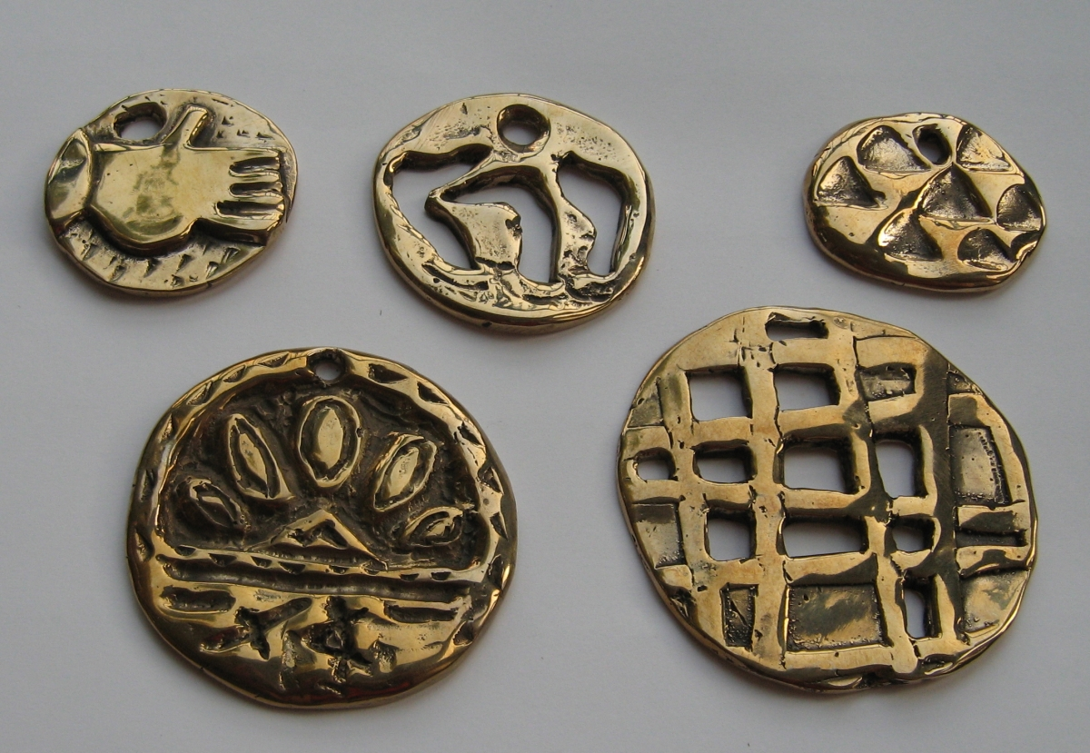 Pendant Series inspired by Jewish art motifs